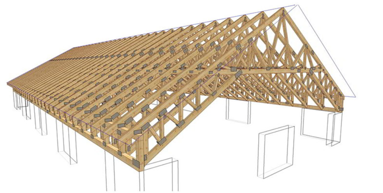 Фермы из дерева для крыши